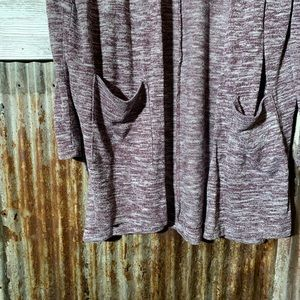 Old Navy Sweaters - Old Navy Burgundy Marbled Cardigan Size Medium